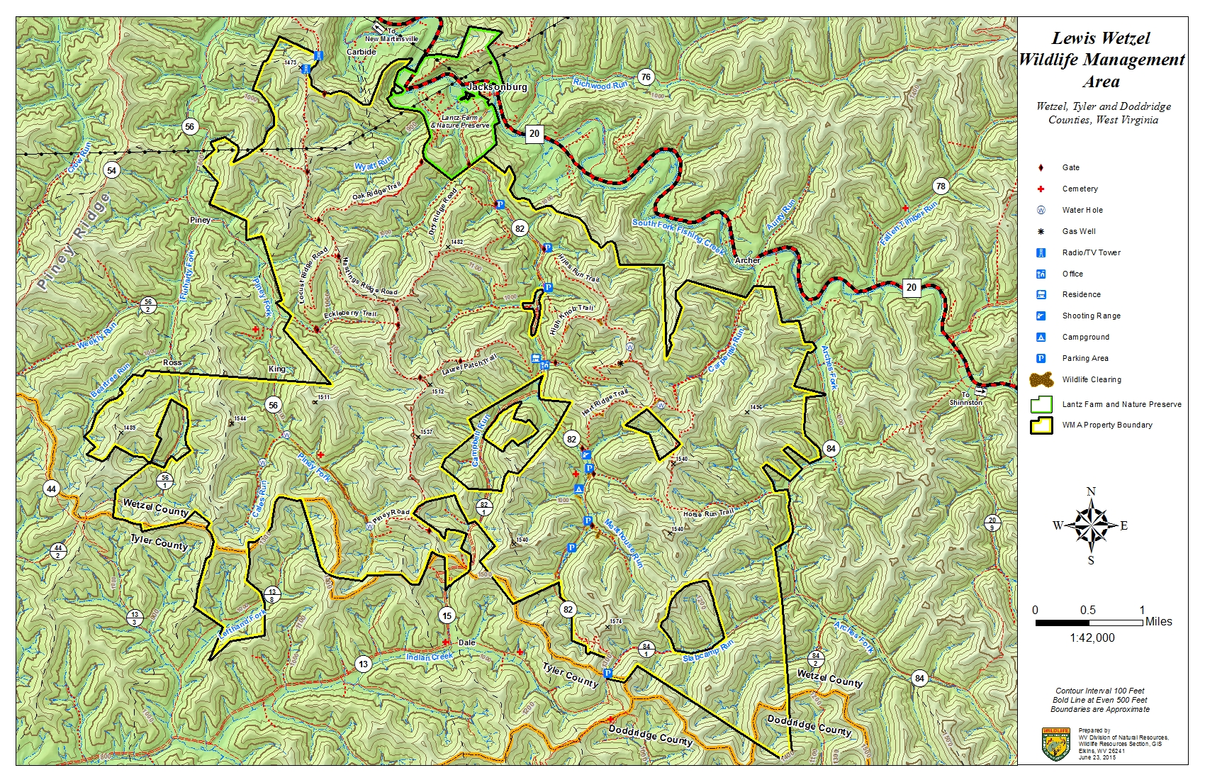 West Virginia DNR WMA Map Project - Maps west virginia