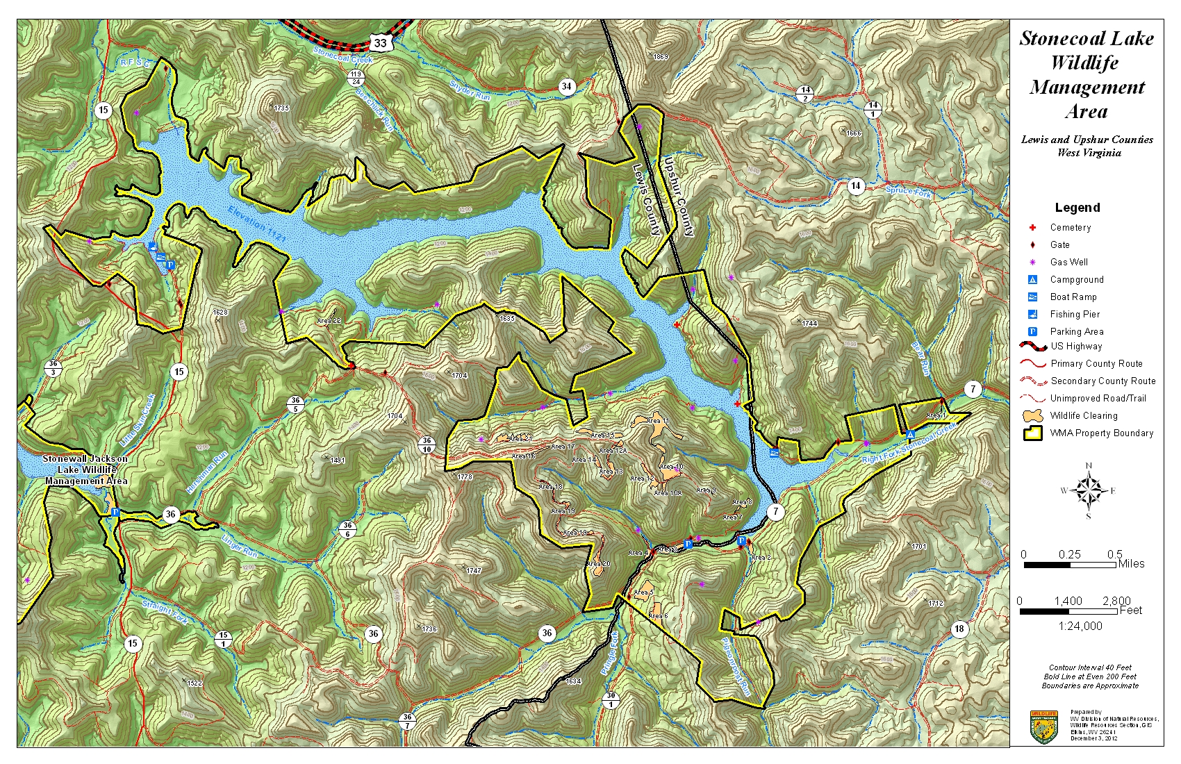 West Virginia DNR WMA Map Project - Maps of wv